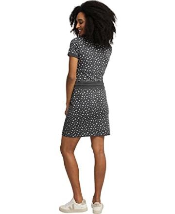 Jersey Sommerkleid mit Kordelzug grau 2