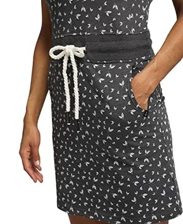 Jersey Sommerkleid mit Kordelzug grau 3