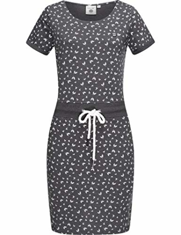 Jersey Sommerkleid mit Kordelzug grau 4