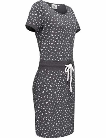 Jersey Sommerkleid mit Kordelzug grau 5