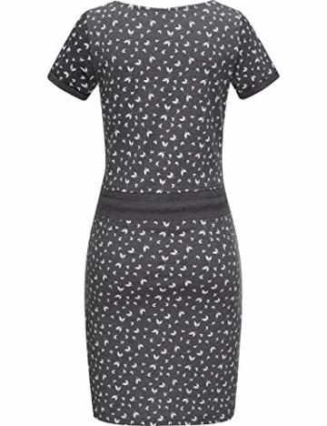 Jersey Sommerkleid mit Kordelzug grau 6