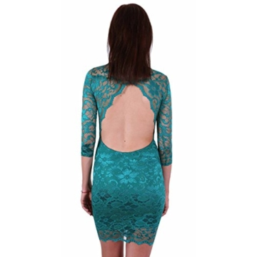 John Zack ASOS Super sexy Minikleid aus Spitze Rückenfrei Backless Party grün - 34/UK 8/EU 36 - 4
