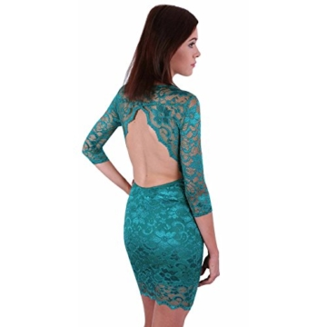 John Zack ASOS Super sexy Minikleid aus Spitze Rückenfrei Backless Party grün - 34/UK 8/EU 36 - 1