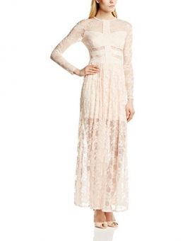 John Zack Damen Kleid High Neck Lace Maxi with cutout Detail, Maxi, Gr. 38 (Herstellergröße:Size 12), Beige (Nude) - 1