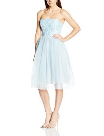 John Zack Damen Kleid, Strapless Lace Bustier With Tulle Skirt Prom, GR. 38 (Herstellergröße: Size 12), Grün (Mint) - 1