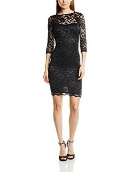 John Zack Damen Schlauch Kleid Lace Mini Body Con with Open Back, Mini, Gr. 38 (Herstellergröße:Size 12), Schwarz -
