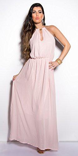 pretty nice 44db3 63ef5 Sommer Kleid Rosa Chiffon Kleid