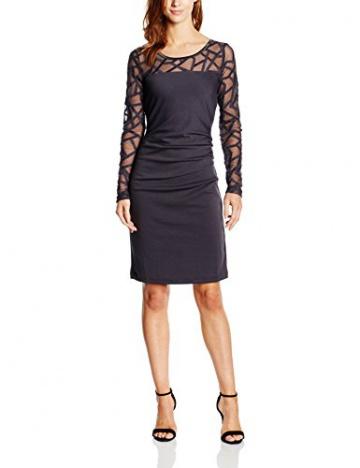Kaffe Damen Cocktail Kleid India Slim Dress - MIN 2, Midi, Gr. 36 (Herstellergröße: S), Blau (Dark Navy 50764) - 1