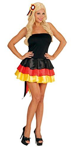 Karneval Klamotten Kostüm Deutschland Kleid Miss Deutschland WM 2018 Dame Kostüm Karneval Fanartikel Fußball Damenkostüm Größe 42/44 - 1