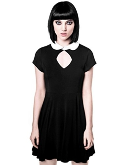 Killstar Damen Okkult Minikleid - Bad Habiits Mini Kleid mit Bubikragen XXL - 1