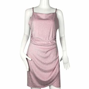 KIMODO Damen Kleider Einfarbig Paillette Kleider Passen Schlank Minikleid Schlinge Ärmellos Verein Partykleid Sexy Sommer Abendkleid - 3