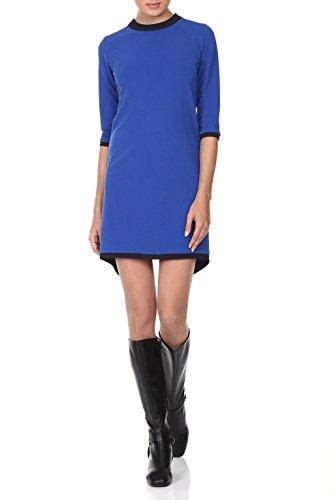 Kleid Damen A-Linie kurz in Blau - RED Isabel - Minikleid elegant für Freizeit und Business, Fishtail & Retro-Look 60er, Modell: Gent, Blau, DE 42 -