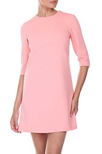 Kleid Damen elegant in Rosa - RED Isabel - Jacquard-Minikleid in A-Linie, Retro-Look & hohe Taille (im Empire-Stil), Modell: Couvin, Rosa, DE 38 -