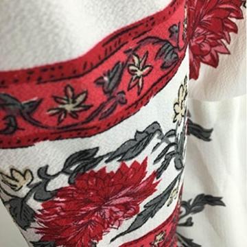 Kleid Damen Retro Schulterfrei Kleid Boho Abendkleid Btruely Mode Sommerkleid Trägerlos Kleid Vintage Partykleid Frauen Lange Kleid (L, Weiß) - 5