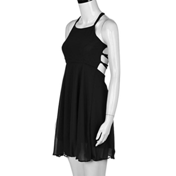 Kleid Damen,Binggong Frauen Mode Party Cocktail Backless Bandage ärmelloses Versuchung Minikleid Kurze Brautjungfern Party Kleid (Sexy Schwarz, S) - 5
