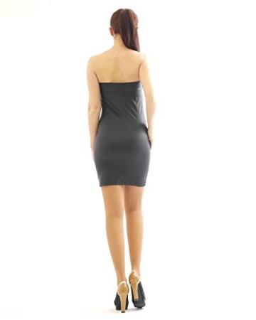 Kleid Mini Minikleid elegant Glanz Matt wie Leder Lack Optik figurbetont Glanz XXL/XXXL - 3