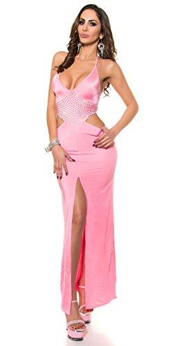 Kleid mit Schlitz und V-Ausschnitt by In-Stylefashion pink -