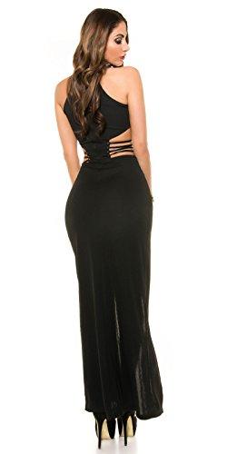 Kleid mit Schnitt & Schlitz schwarz -