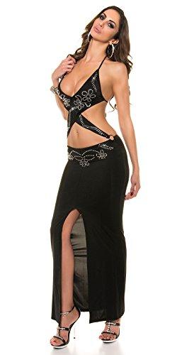 Kleid, vorne über kreuz + Strass by In-Stylefashion schwarz -
