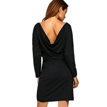 Kleider Abendkleid Cocktailkleid Off-Shoulder Kleid Bodyconkleid Partykleid Rockabilly Kleid Schulterfreis Minikleid Casual Kleid LMMVP (L, Schwarz) - 2