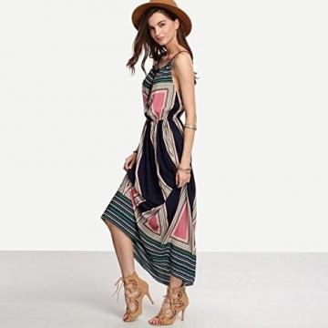 kleid,Sannysis Damen Sommer Boho Lange Kleid Strandkleid Sommerkleid (Mehrfarbig, l) -