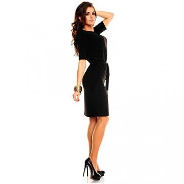 Knielanges Business Kleid Minikleid Partykleid Abendkleid Ballkleid Schwarz - 2