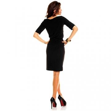 Knielanges Business Kleid Minikleid Partykleid Abendkleid Ballkleid Schwarz - 3