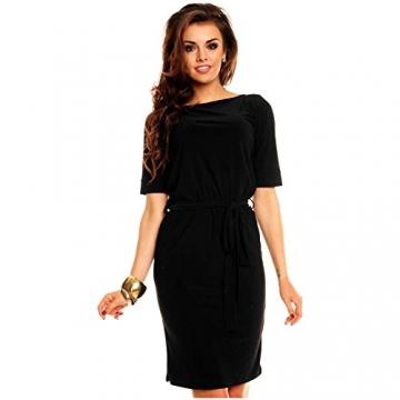 Knielanges Business Kleid Minikleid Partykleid Abendkleid Ballkleid Schwarz - 1