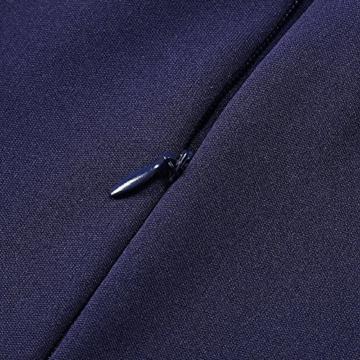 KOJOOIN Damen Elegant Kleider Spitzenkleid Ohne Arm Cocktailkleid Knielang  Rockabilly Kleid Blau Dunkelblau XS - 4 beb72ef900