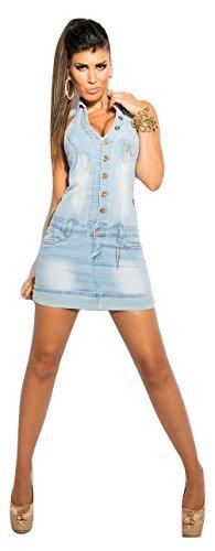 Koucla Damen Kleid Blau Hellblau Größe L - 1