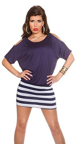 KouCla Damen Kleid gestreift mit Fledermausärmeln - Sexy-Kleider.com afbff9f393