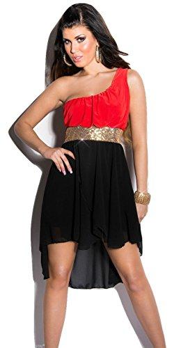 Koucla Damen Kleid Mehrfarbig Schwarz / Rot - 1
