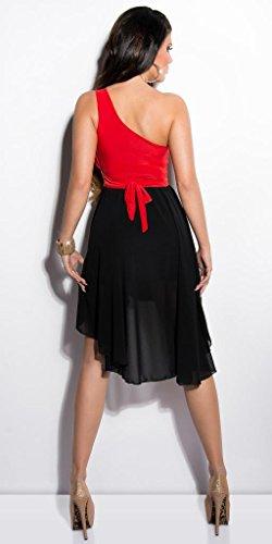 Koucla Damen Kleid Mehrfarbig Schwarz / Rot - 2