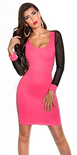 Koucla Damen Kleid Neon pink - 1