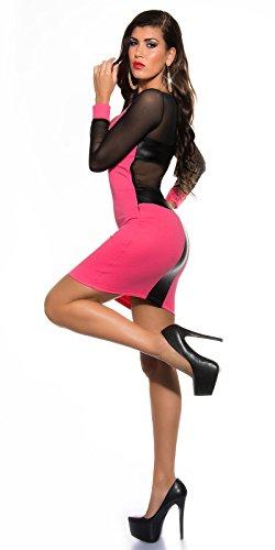 Koucla Damen Kleid Neon pink - 2