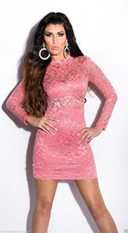 Koucla Damen Kleid Rosa Pink - 1