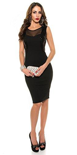KouCla Etui Kleid mit Pailletten Transparent Size XS S 34 36 Navy - 3