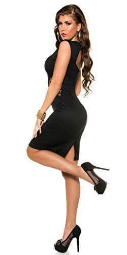 KouCla Etuikleid Mit Spitze Size M 38 Schwarz Stretchkleid Knielang Partykleid -