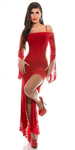 Carmen ausschnitt kleid spitze