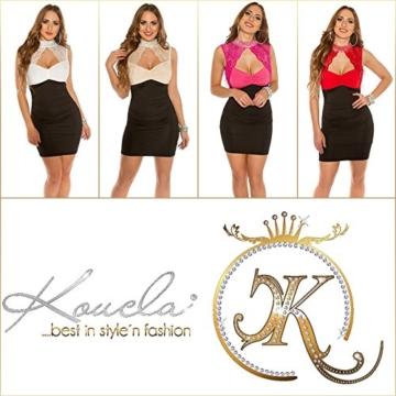 Koucla Minikleid mit Halsband-Effekt und Spitze XS - 5