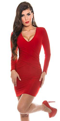 KouCla Minikleid mit sexy Rückeneinblick rot Einheitsgröße 34-38 -
