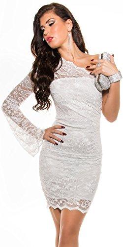 KouCla OneShoulder Party Kleid asymmetrisch (10=36, Weiß) - 1