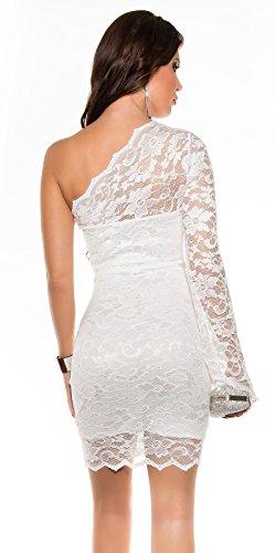 KouCla OneShoulder Party Kleid asymmetrisch (10=36, Weiß) - 2