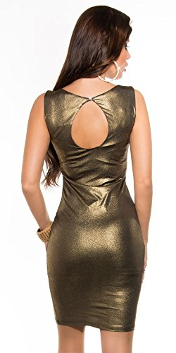 KouCla Party Minikleid in Metallic Look (Gold) - 2