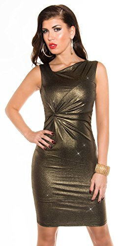 KouCla Party Minikleid in Metallic Look (Gold) - 1