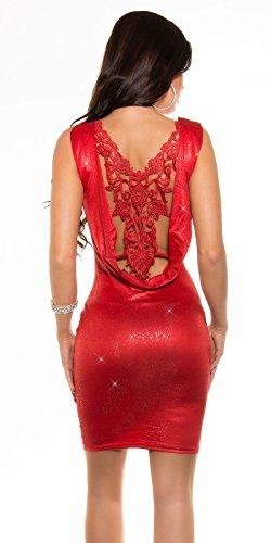KouCla PartyKleid Rückenfrei mit Stickerei (Rot) - 2