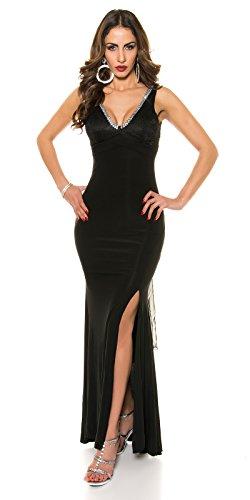 KouCla Red Carpet Look Abend Kleid mit Spitze Size M36 38 Schwarz - 1