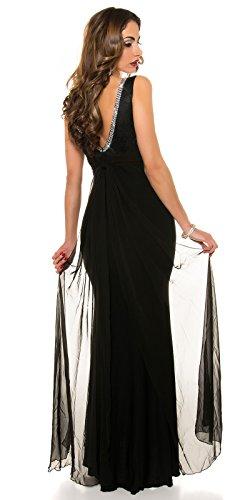KouCla Red Carpet Look Abend Kleid mit Spitze Size M36 38 Schwarz - 2
