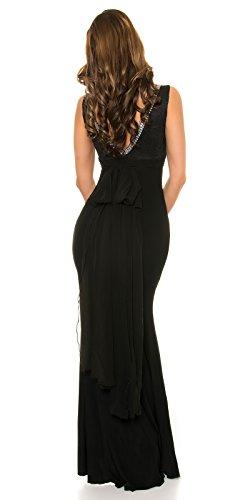 KouCla Red Carpet Look Abend Kleid mit Spitze Size M36 38 Schwarz - 4