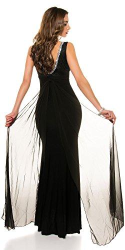 KouCla Red Carpet Look Abend Kleid mit Spitze Size M36 38 Schwarz - 7